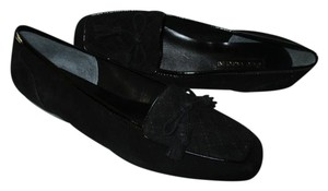 Enzo Angiolini Suede Low Bow Loafer Square Toe Flats