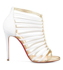 Christian Louboutin White and gold Pumps