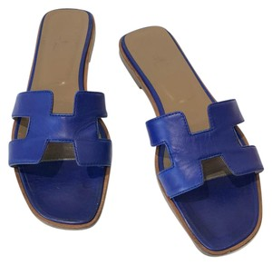 Herms Blue Sandals