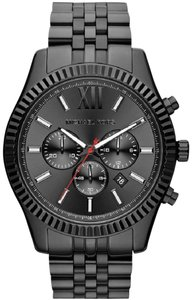 Michael Kors Michael Kors MK8320 Men's Lexington Black Dial Black IP Steel Watch