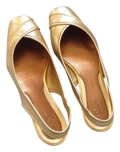 Cole Haan New Metallic Gold Flats
