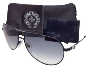 Chrome Hearts New CHROME HEARTS Sunglasses STAINS IV MBK Matte Black w/Grey Gradient
