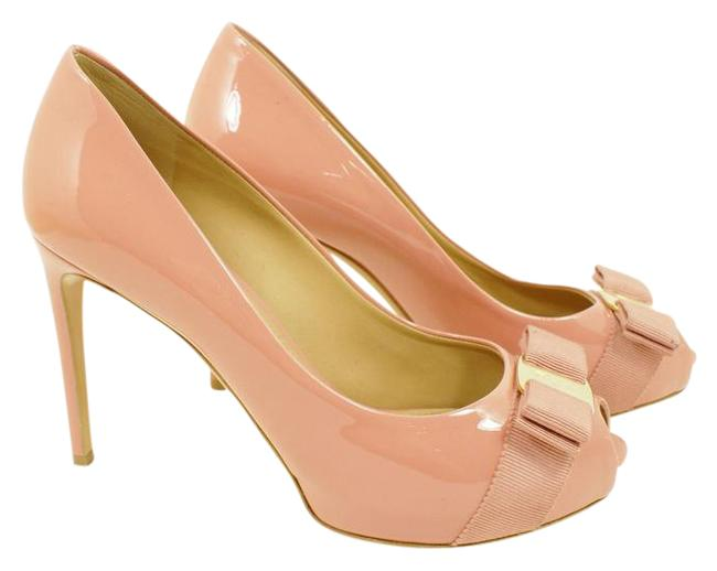 Item - Blush Pink Patent Plum Peep Toe Leather Pump B Flats Size US 7 Regular (M, B)