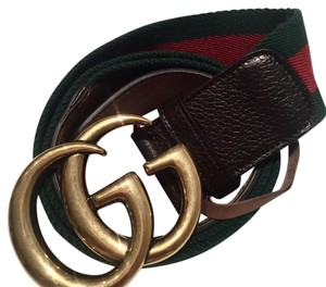 Gucci Gucci Web Double G buckle belt