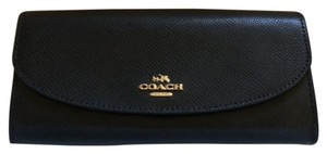 Coach NWT Coach Blk Leather Slim Envelope Wallet-MSRP $250