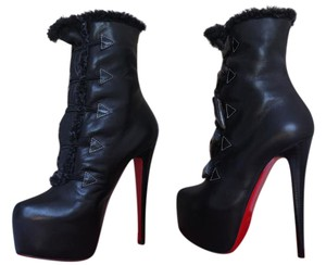 Christian Louboutin Louboutins Pigalle Zanotti Knee Ankle Strass Stads Black Boots