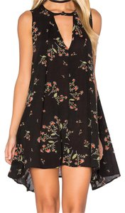 Free People short dress Navy Floral on Tradesy
