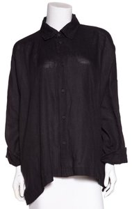 Eskandar Button Down Shirt Black