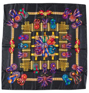 Herms Hermes Multicolored 'Les Rubans du Cheval' Silk Scarf