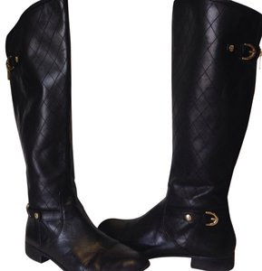Anne Klein Black With Gold Accents Boots