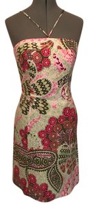 Robin Jordan short dress pink and green on Tradesy