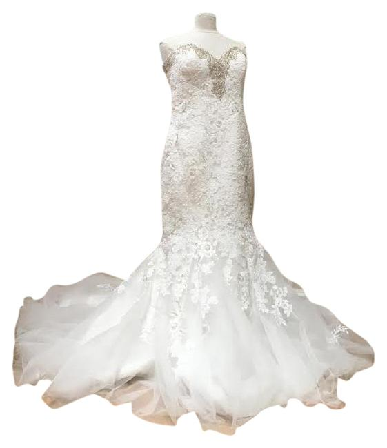 Ivory/Silver Lace Bridal Gown Stock 12907 Cbs Bg 2062 Feminine Wedding Dress Size 12 (L) Ivory/Silver Lace Bridal Gown Stock 12907 Cbs Bg 2062 Feminine Wedding Dress Size 12 (L) Image 1