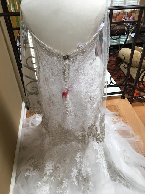 Ivory/Silver Lace Bridal Gown Stock 12907 Cbs Bg 2062 Feminine Wedding Dress Size 12 (L) Ivory/Silver Lace Bridal Gown Stock 12907 Cbs Bg 2062 Feminine Wedding Dress Size 12 (L) Image 11