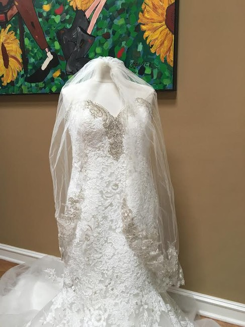 Ivory/Silver Lace Bridal Gown Stock 12907 Cbs Bg 2062 Feminine Wedding Dress Size 12 (L) Ivory/Silver Lace Bridal Gown Stock 12907 Cbs Bg 2062 Feminine Wedding Dress Size 12 (L) Image 10
