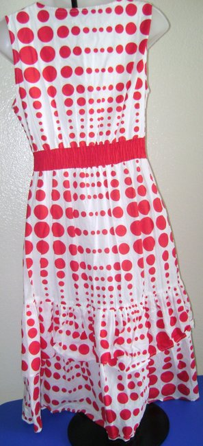 Chaudry short dress White with Red Polka Dots Summer Party Date Night on Tradesy Image 1