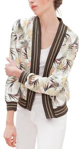 stradivarius Bomber Tropical Open Front Casual MULTI Jacket