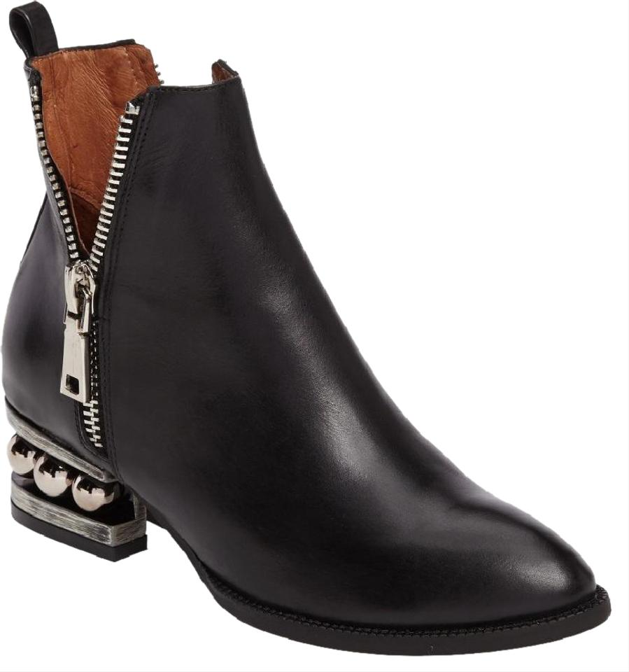 c9cfa22ad Jeffrey Campbell Black Ball Bearing Heel Boone Boots/Booties Size US ...