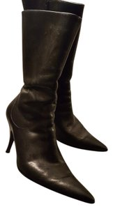 Matisse Midcalf Floral Stiletto Leather Black Boots