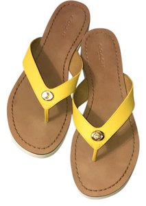Coach Canary Yellow Sandals