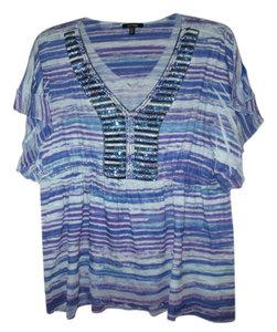 Apt. 9 Top Blue with sequence design