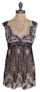 Hale Bob Mesh Sheer Floral Embroidered Tunic