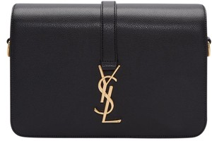 Saint Laurent Monogram Gold Hardware Shoulder Bag