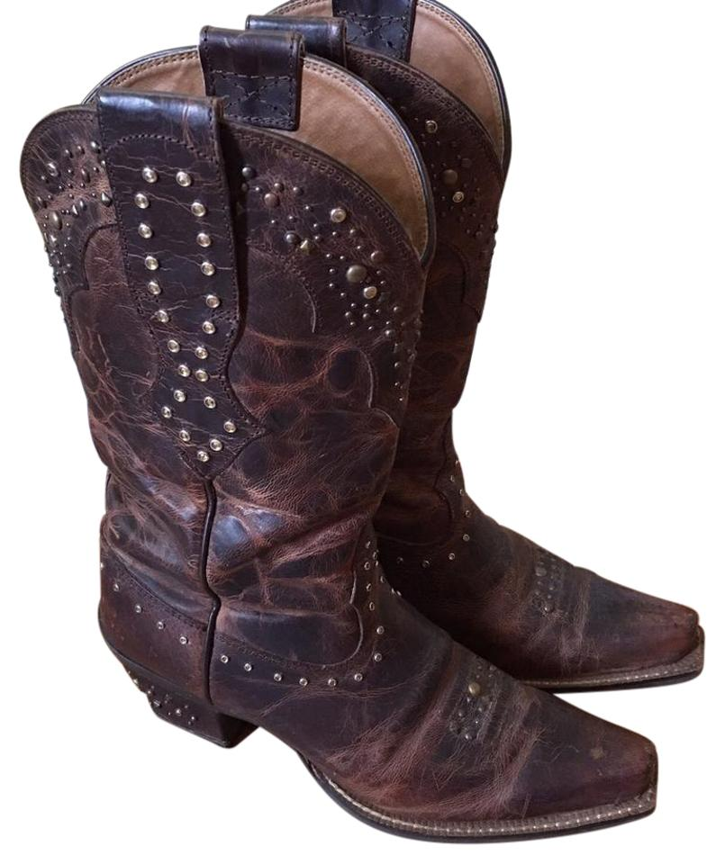 Ariat Brown/Brass Rhinestone Cowgirl (10006850) (10006850) Cowgirl Boots/Booties e00f3e
