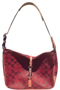 Coach Signature Print Petite Signature Rare Shoulder Bag