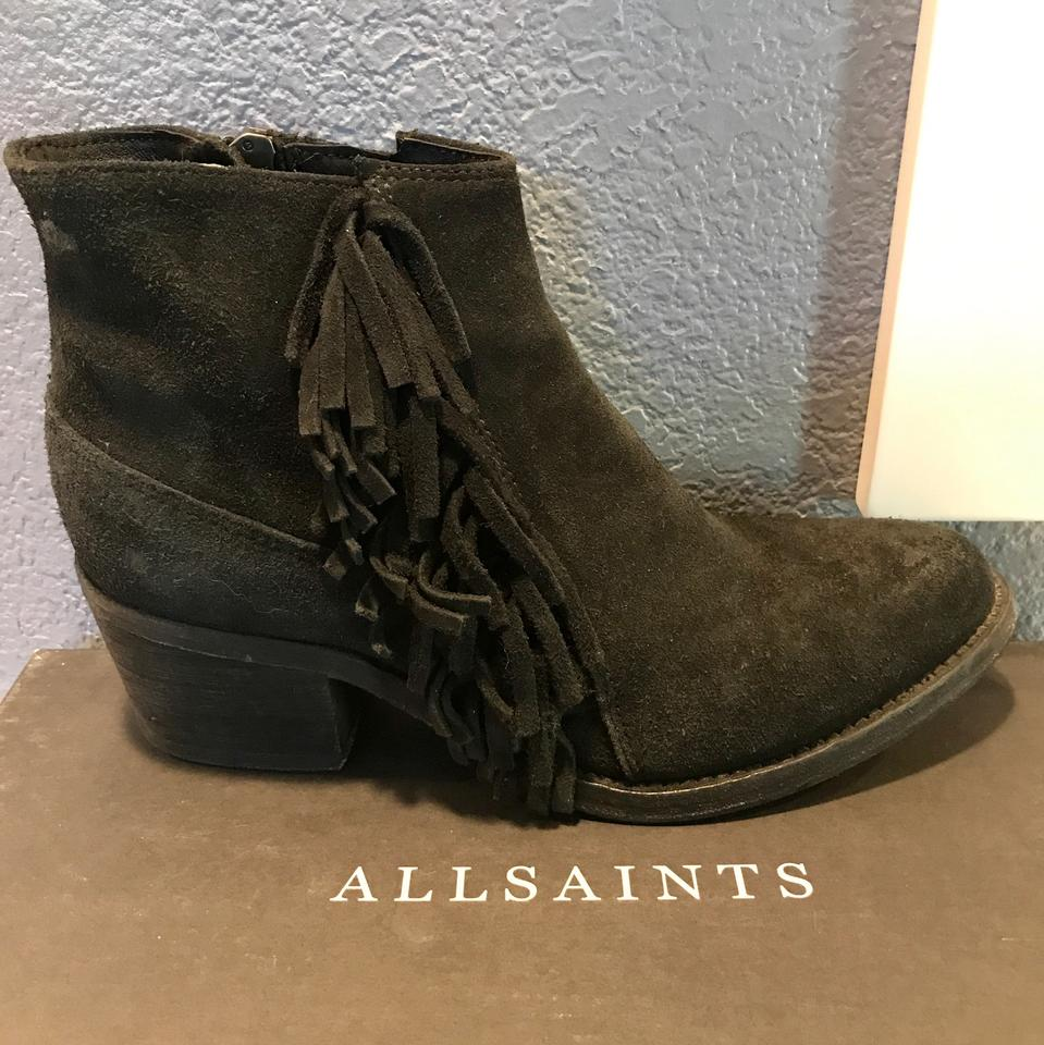 9be7976e1f629 AllSaints Black Suede Ankle Fringe Women's Boots/Booties Size US 8.5  Regular (M, B) - Tradesy