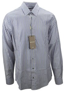 Gucci 353360 Shirt Shirt Cotton Button Down Shirt Blue/White/Pink