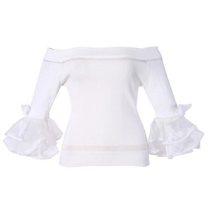 Other Tulle Bow Sweater