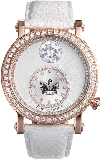 Preload https://item1.tradesy.com/images/juicy-couture-rose-goldwhite-queen-leather-strap-watch-2139475-0-0.jpg?width=440&height=440