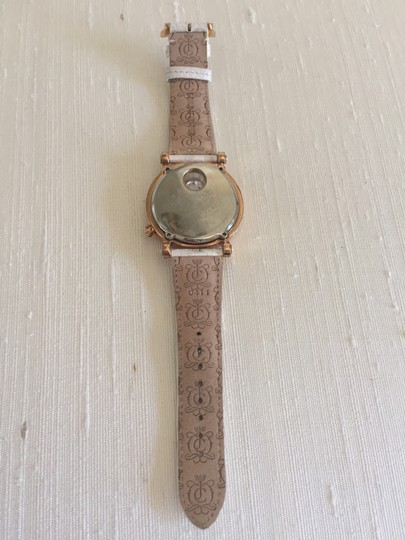 Juicy Couture Gold 'Queen Couture 'Leather Strap Watch