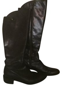 Butter Knee High Leather Dark green almost black Boots