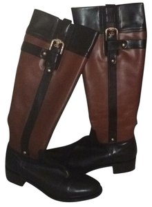 Butter Knee High Leather Black and brown Boots