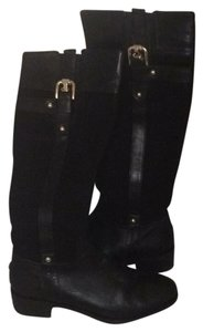 Butter Knee High Black suede and leather Boots