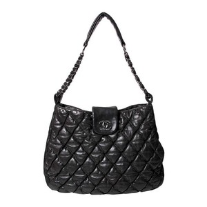 Chanel Bubble Lambskin Quilted Hobo Bag
