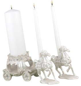 Unity Candle Horse and Carriage 3 Piece Fairy Tale Decoration
