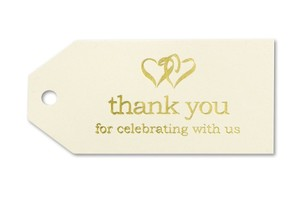 Ivory 25 Pack Linked At The Heart Favor Cards Small Wedding Thank You