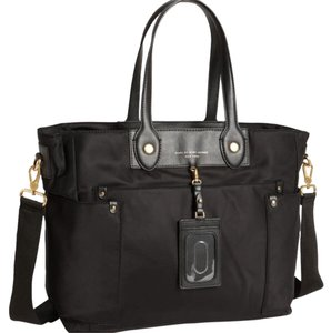 Marc by Marc Jacobs Black with Gold Hardware Diaper Bag
