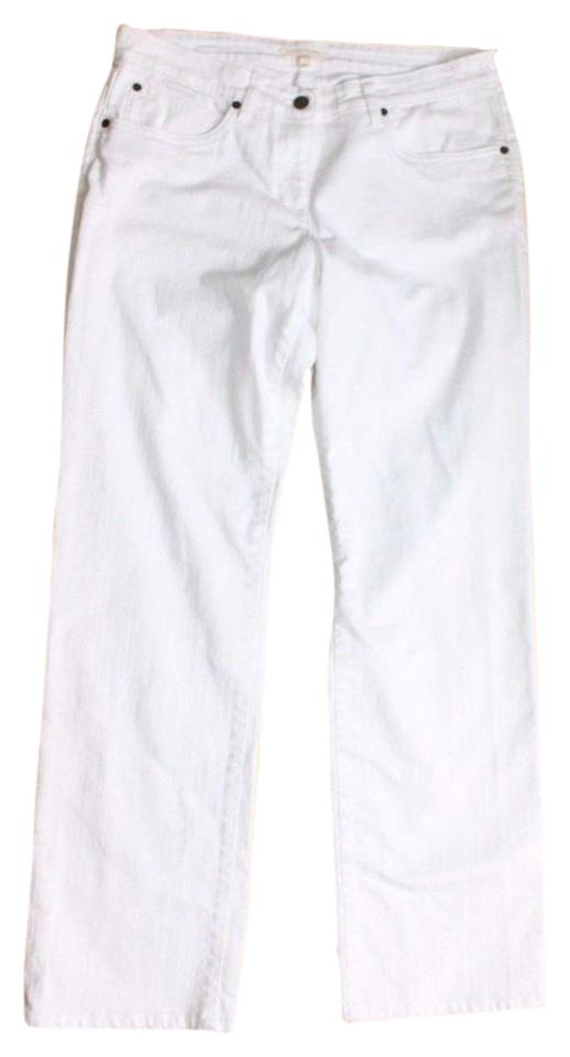 64893aa769 Eileen Fisher White Organic Cotton Denim Jeans Pants Size Petite 8 ...