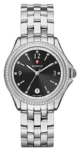 Michele NWT Belmore Diamond, Black Diamond Dial Watch