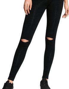 fashion leggings with cut out knee