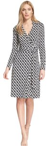 Diane von Furstenberg short dress chain link medium Dvf Silk Wrap Two New on Tradesy