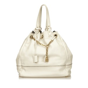 YSL 6aysto006 Tote in White