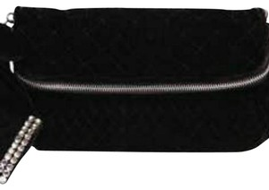 Juicy Couture Velvet Black and Silver Clutch