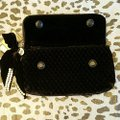 Juicy Couture Quilted Black and Silver Velvet Clutch Juicy Couture Quilted Black and Silver Velvet Clutch Image 4