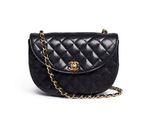 Chanel Vintage Lambskin Leather Cross Body Bag