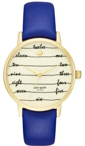 Kate Spade Kate Spade New York Women's blue leather and gold Watch KSW1238