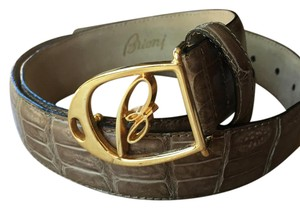 Brioni Brioni crocodile Belt